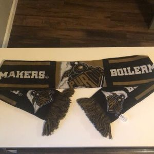 Warm Purdue Boilermakers Winter Scarf With Fringe